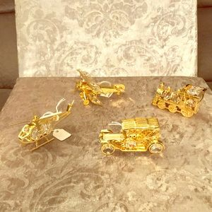 Gold and Crystal Decor and Ornaments